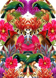 Print - Garden on Behance