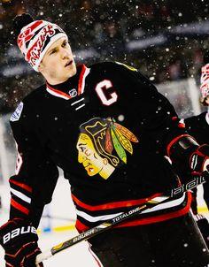The Captain. 2014 Stadium Series. Jonathan Toews Chicago Blackhawks