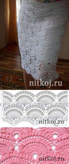 gancho de la falda basado Giovanna Dias 'hilo - prendas de punto para su hogar, crochet, tejido, crochet esquema