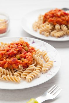 Children's Pea and Lentil Bolognese. This simple, nutrient-packed, delicious pasta dish can be prepared and on the table in under 30 minutes, and uses ingredients you've probably already got in the cupboard.