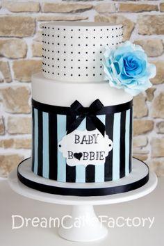 8 Dark Blue And White Baby Shower Cakes Photo Baby Shower Balloon Baby Shower Cakes For Boys, Baby Shower Desserts, Baby Boy Shower, White Baby Showers, Couples Baby Showers, Fondant Cakes, Cupcake Cakes, Baby Cakes, Cupcakes