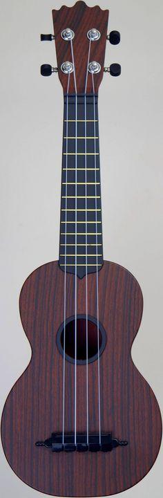 """[Uke of the day 2014] My faux wood """"Woodi"""" Soprano at Ukulele Corner --- https://www.pinterest.com/lardyfatboy/"""