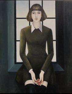 """I Know You,100x80,2017,oil on canvas,Serpil Mavi Üstün"