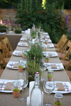 jaala | Gallery farm to table dinner in the garden with an herb flare