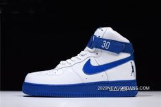 """ffbc9ae86d 2020 Outlet Men's And Women's Nike Air Force 1 High Sheed """"Rude Awakening""""  White/Blue Jay AQ4229-100. Popular Mens ShoesCurry ..."""