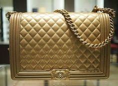 Chanel Dark Gold Boy Large Bag Pre Fall 2012