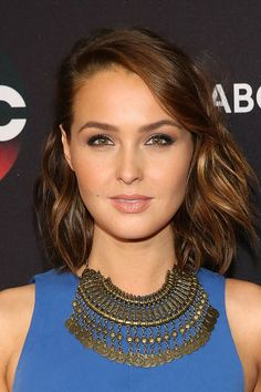 Actress Camilla Luddington attends the 2015 ABC NY Upfront Presentation at Avery Fisher Hall at Lincoln Center for the Performing Arts on May 12 2015...