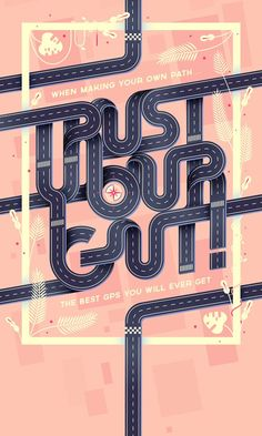 Creative Typonerdism, Trust, Gut, and Poster image ideas & inspiration on Designspiration Typo Design, Graphic Design Typography, Lettering Design, Web Design, Design Logo, Herb Lubalin, Poster Layout, Typography Poster, Poster Fonts