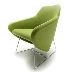 Segis U.S Taxido Sled Base Arm Chair with Headrest | AllModern