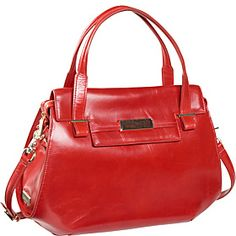 """Botkier Nicola Wooden Plaque Flap Satchel  (Clearance)  Our Price:  $545.00  Sale Price:  $219.99      Size:  Large  Dimensions:  15"""" x 11"""" x 5""""  Drop Length:  5""""  Weight:  2 lbs  Material:  Leather"""