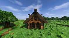 Small Log Cabin Minecraft Project