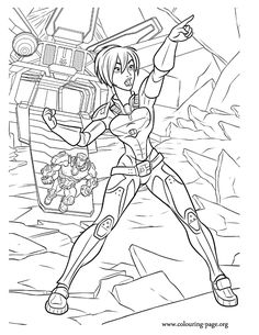 Have fun coloring this picture of Sergeant Calhoun! She is the leader in Hero's Duty game and her mission is to destroy all the cy-bugs!