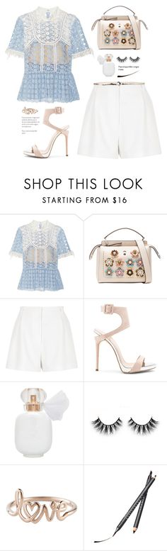 """""""self portrait"""" by yexyka ❤ liked on Polyvore featuring self-portrait, Fendi, River Island, Giuseppe Zanotti, Chantecaille and Orciani"""