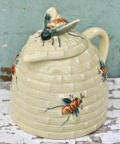 Vintage Honey Pot - Ivorybird at etsy