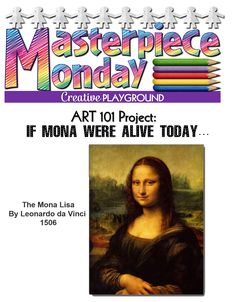 Click Here for the Mona Lisa Printables Above! I'm also linking up with Classroom Freebies Maniac Monday!   Go to th...