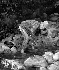 """Tom Petty gold panning! Go figure, we both dig the same hobby!!! James """"Petty"""" Ross"""