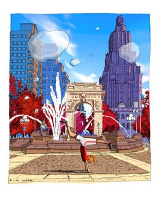 A fresh look at life is just around the corner. Washington Square, Around The Corner, Happy Day, Artist At Work, Statue Of Liberty, Bubbles, Dance, Digital, My Love