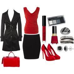 need...coat - skirt - polish - shoes -  earrings...
