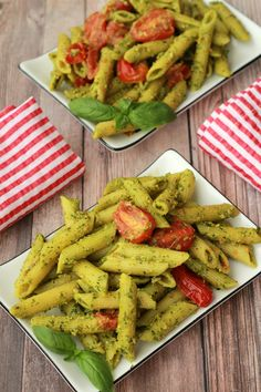 Fabulous 30 minute vegan pesto pasta with pan-roasted cherry tomatoes. This meal is vegan, packed with flavor, rich, creamy and cheesy!