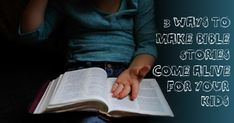3 Ways To Make Bible Stories Come Alive For Your Kids Inspirational Articles, Christian Kids, Christian Devotions, Bible Stories, Beauty Tricks, Daily Devotional, Live Long, Bedtime, Playing Cards