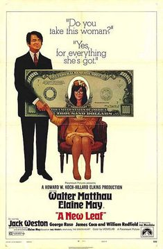 A NEW LEAF (1971) DVD Walter Matthau/Elaine May.   One of the funniest movies you have to really search for.