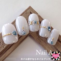 This could work of using one out two designs at a time. Rhinestone Nails, Bling Nails, Diy Nails, Swag Nails, Beautiful Nail Designs, Beautiful Nail Art, Japan Nail, Japanese Nails, Elegant Nails