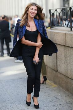 (Nina Garcia - love her because she's not 20-something & model thin, shows how normal size women can look great) Best-Dressed Street Style at New York's Fashion Week | Vanity Fair