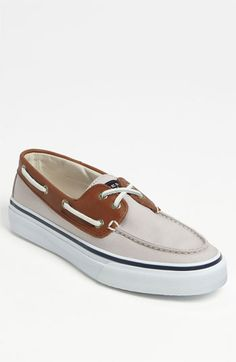 SPERRY BAHAMA 2 EYE CANVAS/ LEATHER BOAT (sspring summer)