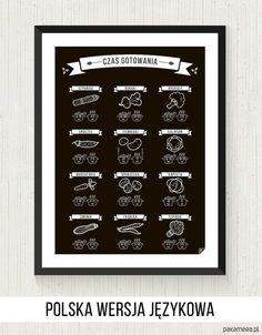 CZAS GOTOWANIA - plakat 30x40cm - dodatki - plakaty, ilustracje, obrazy - grafika - Pakamera.pl