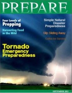 The September 2013 Digital Issue of PREPARE Magazine offers information and resources on Preparing for Natural Disasters.   Putting together a Disaster Preparedness plan in the event of a natural disaster is vital.  This issue is still available to help PREPARE Premium Members.