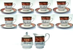 Poison Tea Cup Set by BeatUpCreations