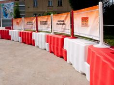 Plastic safety barriers - adspace solutions