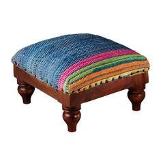 The beautifully bold colors of this foot stool remind us of a Spanish fiesta. A dark and classic wood base plays up the eclectic beauty of the textiled top, while a border of nailheads adds a touch of ...  Find the Under Spanish Rule Foot Stool, as seen in the Bohemian Sanctuary Collection at http://dotandbo.com/collections/bohemian-sanctuary?utm_source=pinterest&utm_medium=organic&db_sku=103079