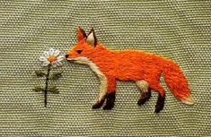 Fox and daisy with embroidery - 'rǣv' by Chihiro Sato