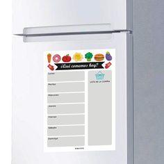 Weekly Meal Planner Board magnet for fridge Weekly Meal Planner, Meals For The Week, Planner Board, Grande, Shopping, Etsy, Magnetic Chalkboard, Pet Portraits, Weekly Menu