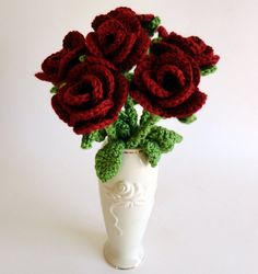 Bouquet of Roses - PDF Crochet Pattern - Instant Download