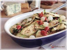 ABROBRINHA GRELHADA COM ERVAS E ALHO - grilled zucchini