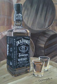Acrylic painting, Jack Daniel's