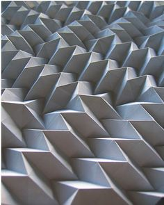 am_1_29_origamilandscape_or — Patternity Origami Geometric Shapes, Geometric Form, Folding Structure, Paper Structure, 3d Pattern, Shape Patterns, Surface Pattern, Surface Design, Textures Patterns