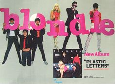 Blondie, poster for Plastic Letters, 1978.  This is like candy!!