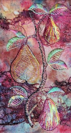 "Capability Brown Exhibition at Cannon Hall, 9th February - 5th June 2016. ""A Golden Pear"" work by Jenny Robson Sheffield Branch"