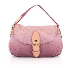 Pre-Owned Sunray Shoulder Bag Denim ($765) ❤ liked on Polyvore featuring bags, handbags, shoulder bags, pink, pink handbags, louis vuitton shoulder bag, pink shoulder handbags, shoulder handbags and pink shoulder bag