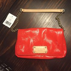 NWT - Kate Spade - Red Small, red Kate Spade purse with gold chain strap kate spade Bags Shoulder Bags