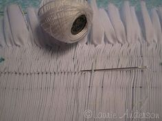 back smocking- I love backs smocking. Lovely rows of even methodical stitching....