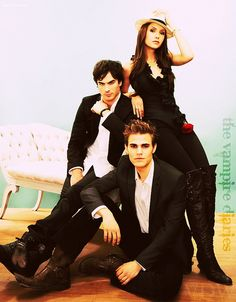 The Vampire Diaries, I am obsessed with this show. I want season 6! They are all so damn good looking .