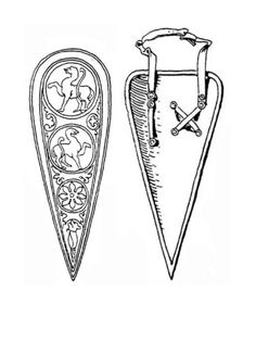 Front and back view of a kite shaped shield Norman Shield, Medieval Shields, Men Are Men, Viking Costume, Medieval Weapons, Mystery Of History, 11th Century, Military History, Kite