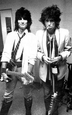 Ron Wood and Keith Richards via: thefactoryofrollingstones: RON WOOD & KEITH...