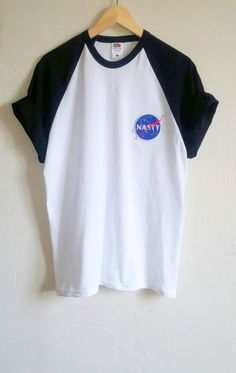 Baseball NASA-Nasty Tumblr Patch T-Shirt Grunge von SpacyShirts