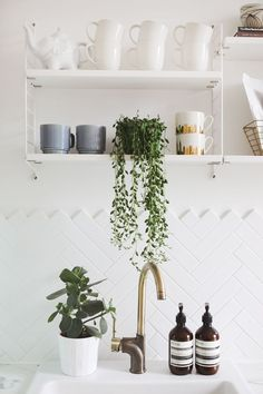 Open Shelving In Our Kitchen.