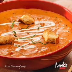 Are you more of a soup traditionalist? You can't go wrong with our Tomato Basil. Warm and comforting hints of carrot, celery, onions and garlic, finished with fresh basil and heavy cream.  Stop by today and sample select soups from 11 am - 1 pm at your local Newk's! #SoupMonth (At participating locations only.)